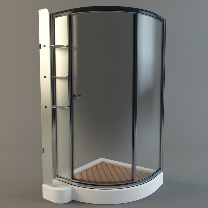 Shower cubicle 3d model free download - cadnav.com