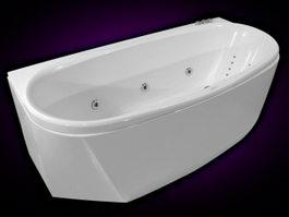 Massage bath tub 3d model