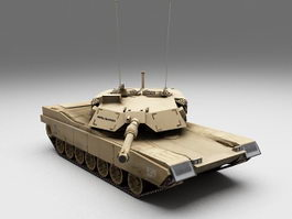 US Marines M1 Abrams tank 3d model