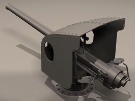 Anti-Aircraft Gun 3d model