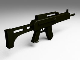 Military assault rifle 3d model