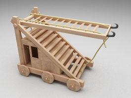 Medieval siege ladder 3d model