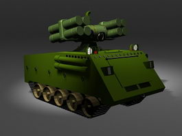 Mobile SAM missile launcher 3d model