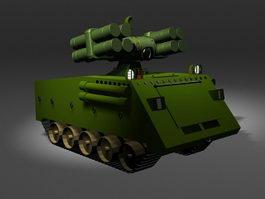 Mobile SAM missile launcher 3d model