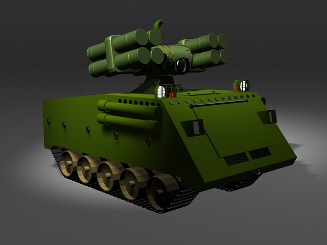 Mobile Sam Missile Launcher 3d Model 3ds Max Files Free