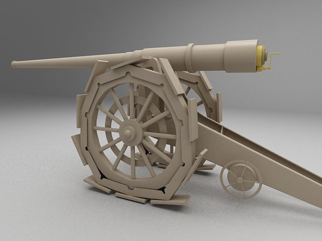 Antique Cannon 3d Model 3ds Max Files Free Download