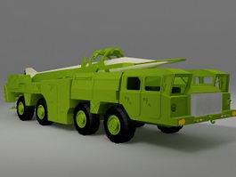 Mobile missile truck 3d model