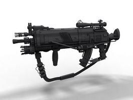 Futuristic assault rifle 3d model