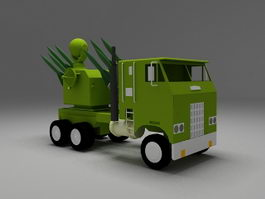 Military missile launcher 3d model