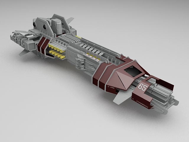 sci fi spaceship 3d model 3ds max files free download