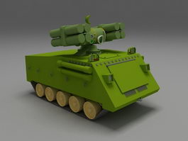 Anti-Aircraft missile system 3d model