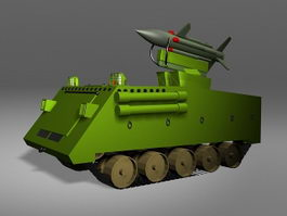 Missile Launcher Anti-Tank Vehicle 3d model