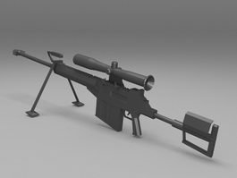 Large caliber sniper rifle 3d model