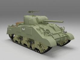 M4A3 Sherman tank 3d model