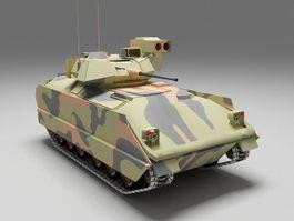 Bradley fighting vehicle 3d model