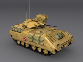 U.S. army bradley fighting vehicle 3d model