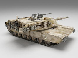 M1 Abrams main battle tank 3d model