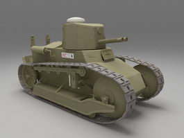 Fiat 3000 tank 3d model