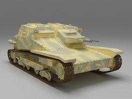 Italian L3 35 Tankette 3d model