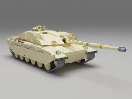 British Challenger tank 3d model