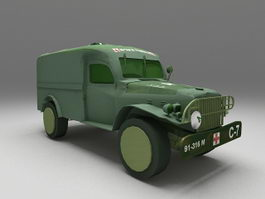 Army ambulance 3d model