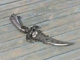 Fantasy dagger 3d model