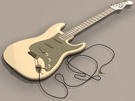 Vintage electric guitar 3d model
