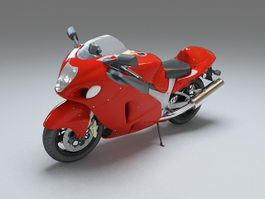 Red motorcycle 3d preview