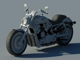 Harley-Davidson motorcycle 3d model