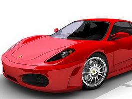 Ferrari F430 red 3d model