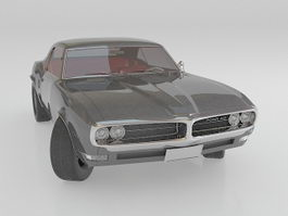 Pontiac Firebird Muscle car 3d model