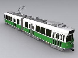 Vintage tram 3d model