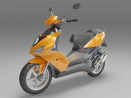 Moped motorcycle 3d model