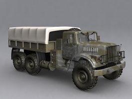 KrAZ-255 military truck 3d model