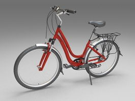 Contemporary utility bicycle 3d model