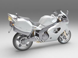 Touring motorcycle 3d model