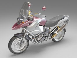 Cruiser motorcycle 3d preview