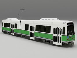LRV trolley bus 3d model