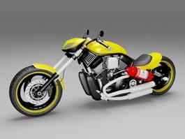 Harley-Davidson sportster custom 3d model