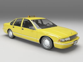 Chevy taxi cab 3d model