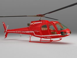 Airbus light utility helicopter 3d model