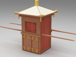 Chinese sedan chair 3d model
