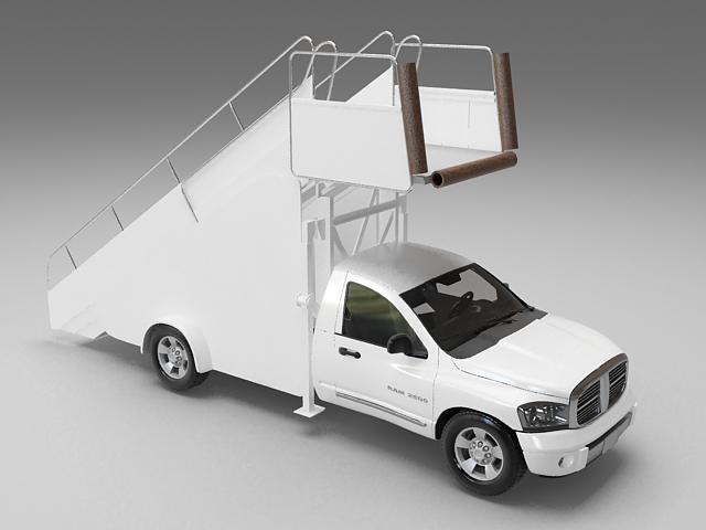 Passenger boarding stair truck 3d model