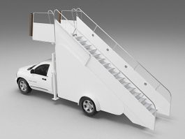 Passenger boarding stair truck 3d model