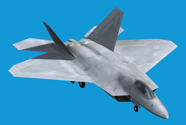 Lockheed F-22 Raptor 3d model