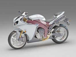 Street motorcycle 3d model