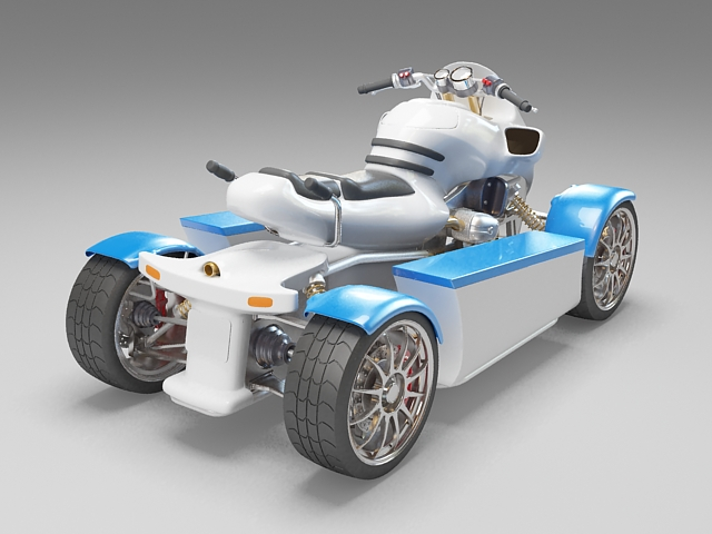 ATV Amphibious Vehicle 3d model