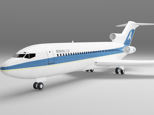 Boeing 727 aircraft 3d model - CadNav