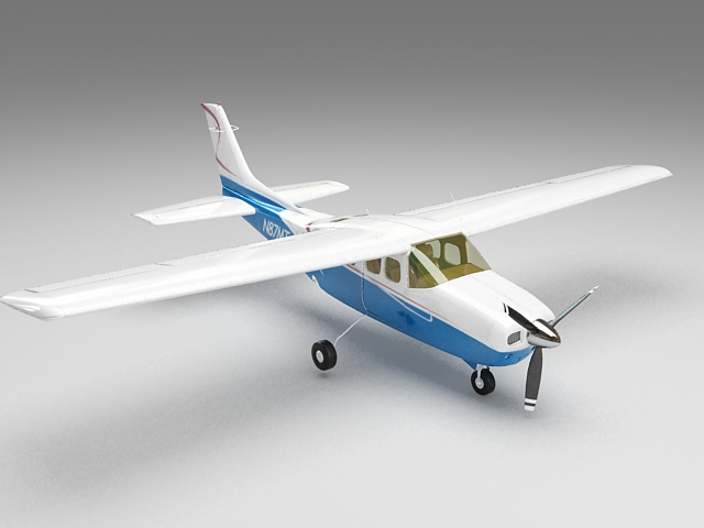 Small plane 3d model 3ds Max files free download - modeling 35951 on