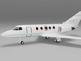 Small private jet plane 3d model